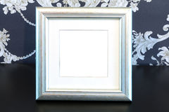Silver Vintage picture frame on vintage background Stock Photo