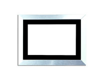 Silver Vintage picture frame on white background Royalty Free Stock Photo