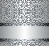 Silver vintage repetitive wallpaper design Stock Image