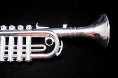 Silver Vintage Toy Trumpet Stock Images