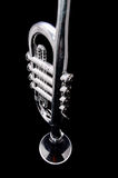 Silver Vintage Toy Trumpet Stock Image