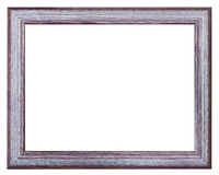 Silver and violet painted wide wood picture frame Royalty Free Stock Photography