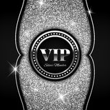 Silver VIP vector illustration on glitter background Royalty Free Stock Images