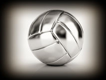 Silver volley ball. Fine image of silver volley ball Royalty Free Stock Photography