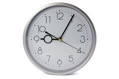 Silver wall clock Royalty Free Stock Photos