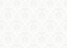 Silver Wallpaper with Damask Pattern Royalty Free Stock Images
