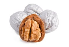 Silver Walnuts Stock Photos