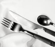 Silver ware royalty free stock photography