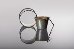 Silver ware from 19-th century Royalty Free Stock Images