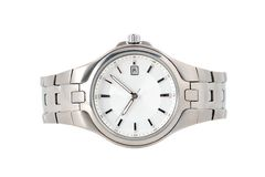 Silver watch Stock Images