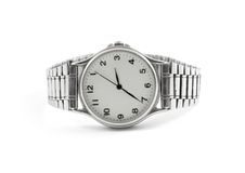 Silver Watch Isolated Stock Photography