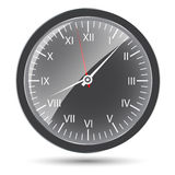Silver watch vector illustration Stock Image