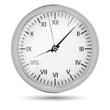 Silver watch vector illustration Royalty Free Stock Photo