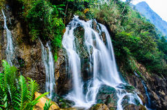 Silver Waterfall, Sapa, Vietnam Stock Photo