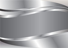 Silver wave abstract vector background Royalty Free Stock Photo