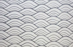 Silver wave pattern wall Stock Photos