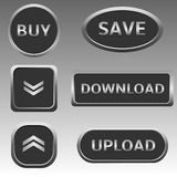Silver web buttons Royalty Free Stock Image