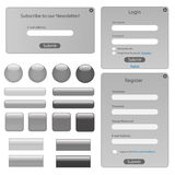 Silver Web Template Royalty Free Stock Photography