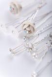 Silver wedding pins Stock Photos