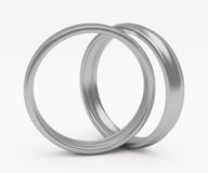 Silver wedding ring Stock Photos