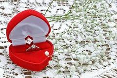 Silver wedding ring Royalty Free Stock Image