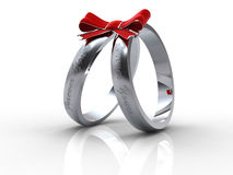 Silver wedding rings Royalty Free Stock Images