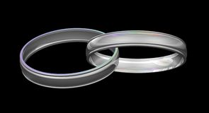 Silver Wedding Rings Stock Image