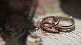 Silver wedding rings. Silver or titanium wedding rings. Wedding rings stock footage