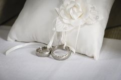 Silver wedding Rings Stock Images