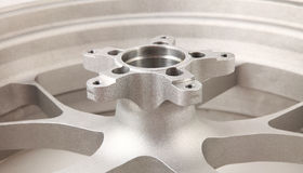 Silver wheel Stock Photo