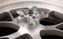 Silver wheel Royalty Free Stock Photography