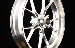 Silver wheel Royalty Free Stock Photo