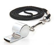 Silver whistle Royalty Free Stock Photo