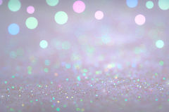 Silver and white bokeh lights defocused. abstract background Stock Photos
