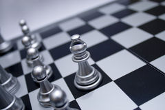 Silver white chess bishop Stock Photos