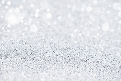 Silver white glittering Christmas lights. royalty free stock photo