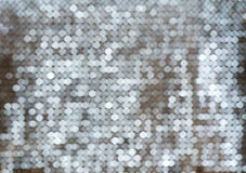 Silver white glittering Christmas lights. Royalty Free Stock Image