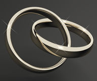 Silver Or White Gold Rings Stock Image