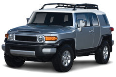 Silver And White SUV Stock Image