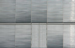 Silver window shutters Stock Images