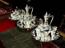 Silver Wine pot stock photos