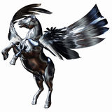 Silver Winged Horse Stock Images