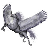 Silver Winged Pegasus Royalty Free Stock Image