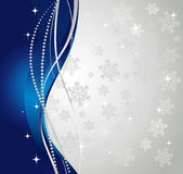 Silver winter abstract background. Christmas background with snowflakes. Vector Royalty Free Stock Image