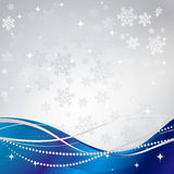 Silver winter abstract background. Christmas background with snowflakes. Vector Stock Photo