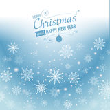 Silver winter abstract background. Christmas  with snowflakes. Vector. Royalty Free Stock Photos