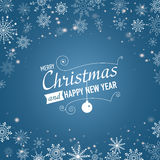Silver winter abstract background. Christmas  with snowflakes. Vector. Stock Photography