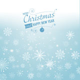 Silver winter abstract background. Christmas  with snowflakes. Vector. Stock Photo