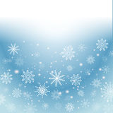 Silver winter abstract background. Christmas  with snowflakes. Vector. Stock Images