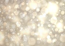 Silver winter abstract bokeh background Stock Photo